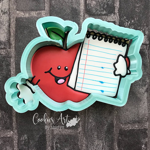 Apple with Note Pad