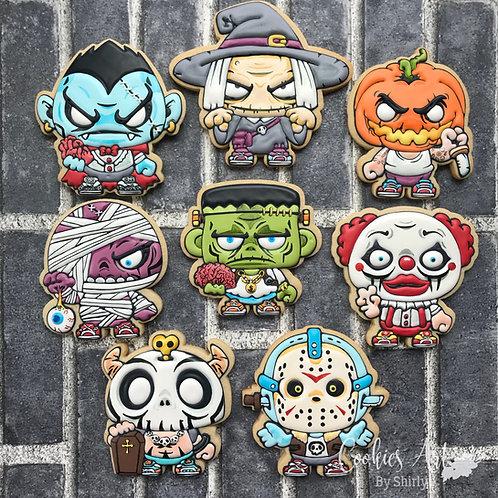 CABS#7- Halloween Creepy Characters Online Cookie Class