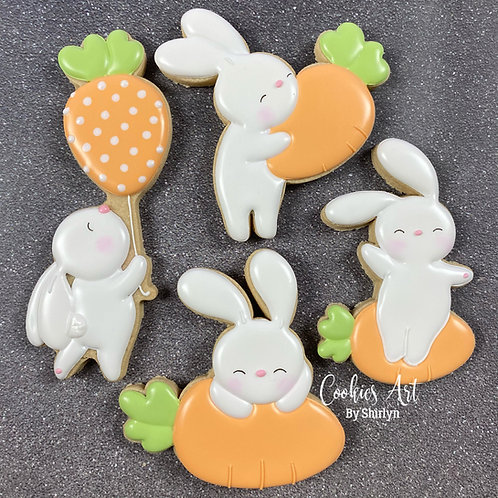 Bunny With Carrot Set of 4 STL Files (Digital Files)