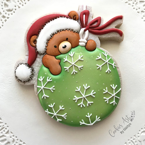 Bear Green Ornament