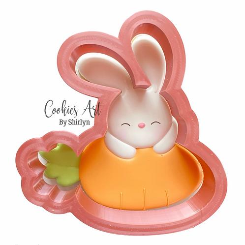 Bunny On Carrot STL Files (Digital Files)
