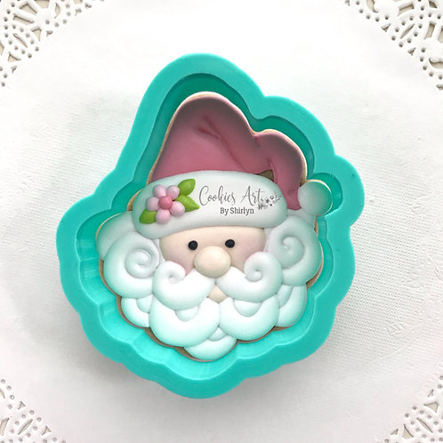 Curly Beard Santa STL File