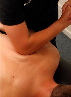 Use of elbows in Sports Massage