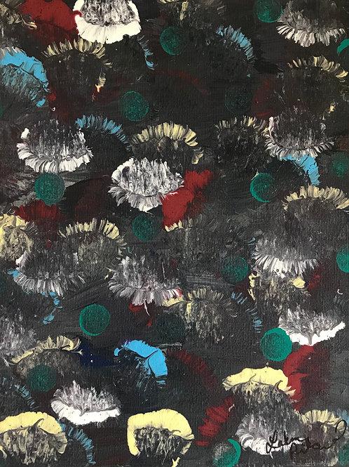 Midnight Bloom - Acrylic Painting