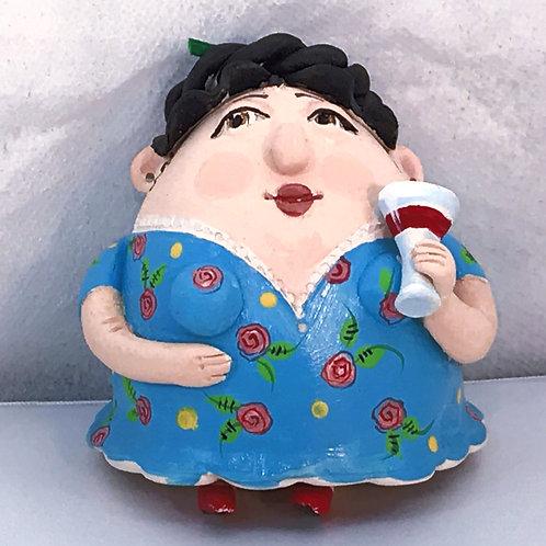 """Wine Lady"" - Ceramic Bell"