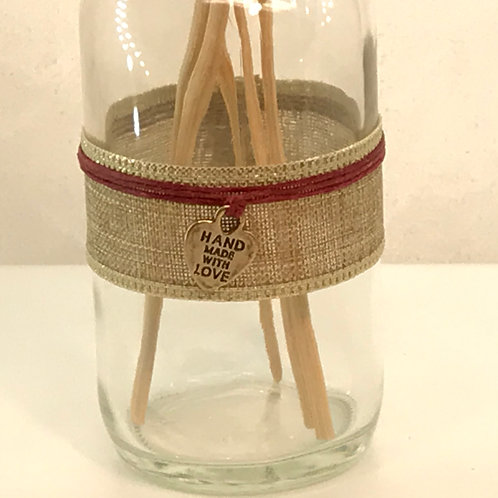 Small Glass Diffuser - Heart Charm with Red Cord