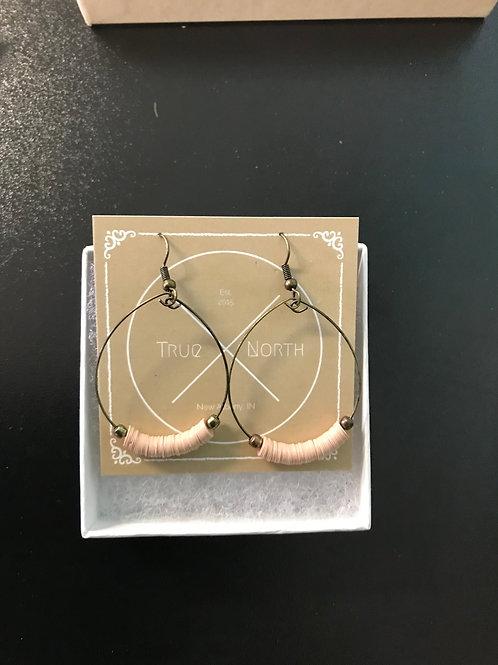 Mauve Disks Hoop Earrings