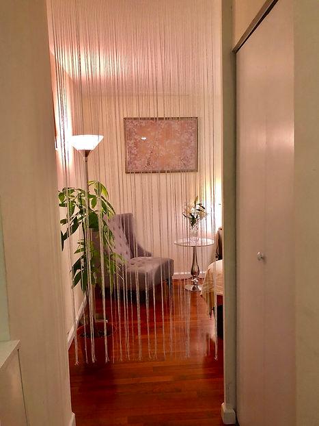 Session room entrance after