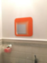 Sink mirror before