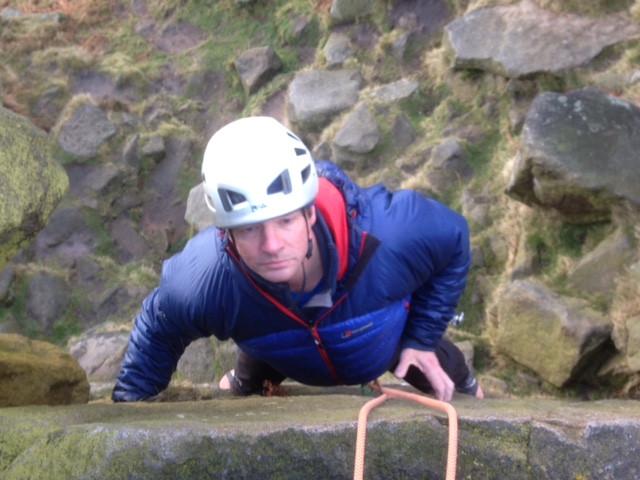 Martyn climbing