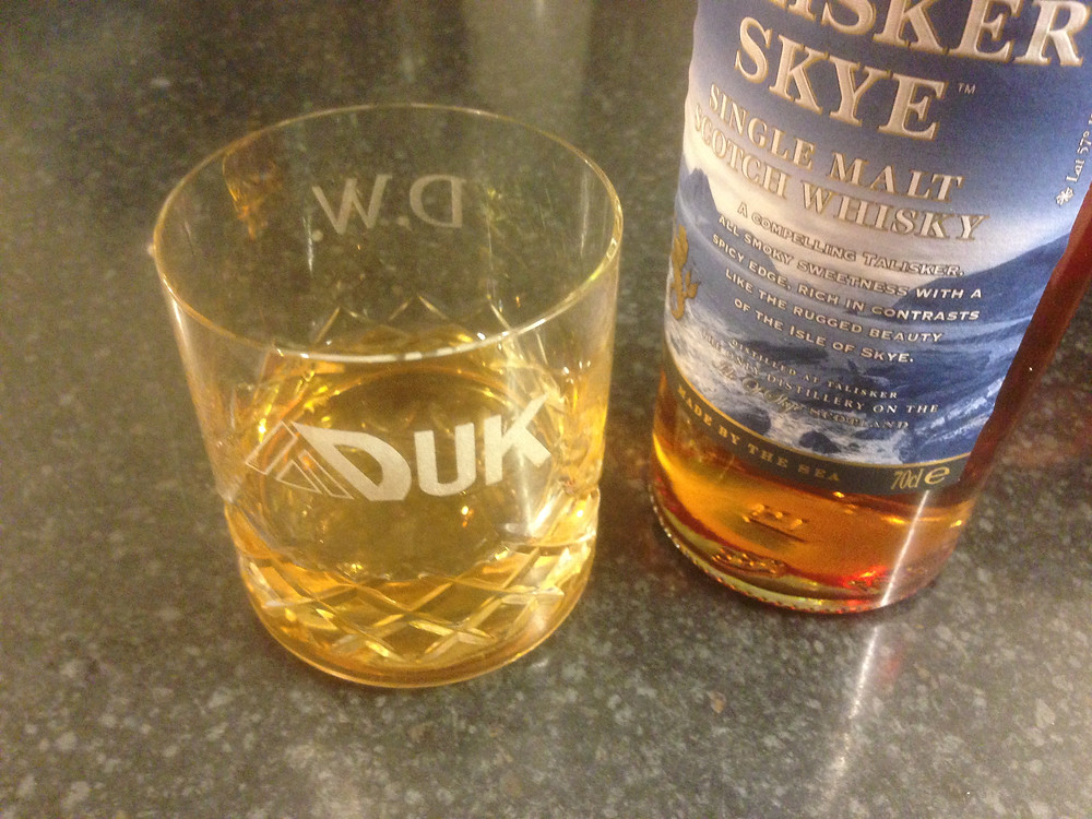 Adventure Days UK whisky glass with whisky