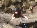 Climber outdoors