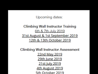 New Climbing Wall Instructor Dates