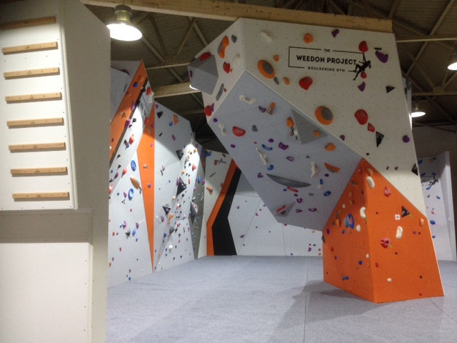 Picture of bouldering area at The Weedon Project