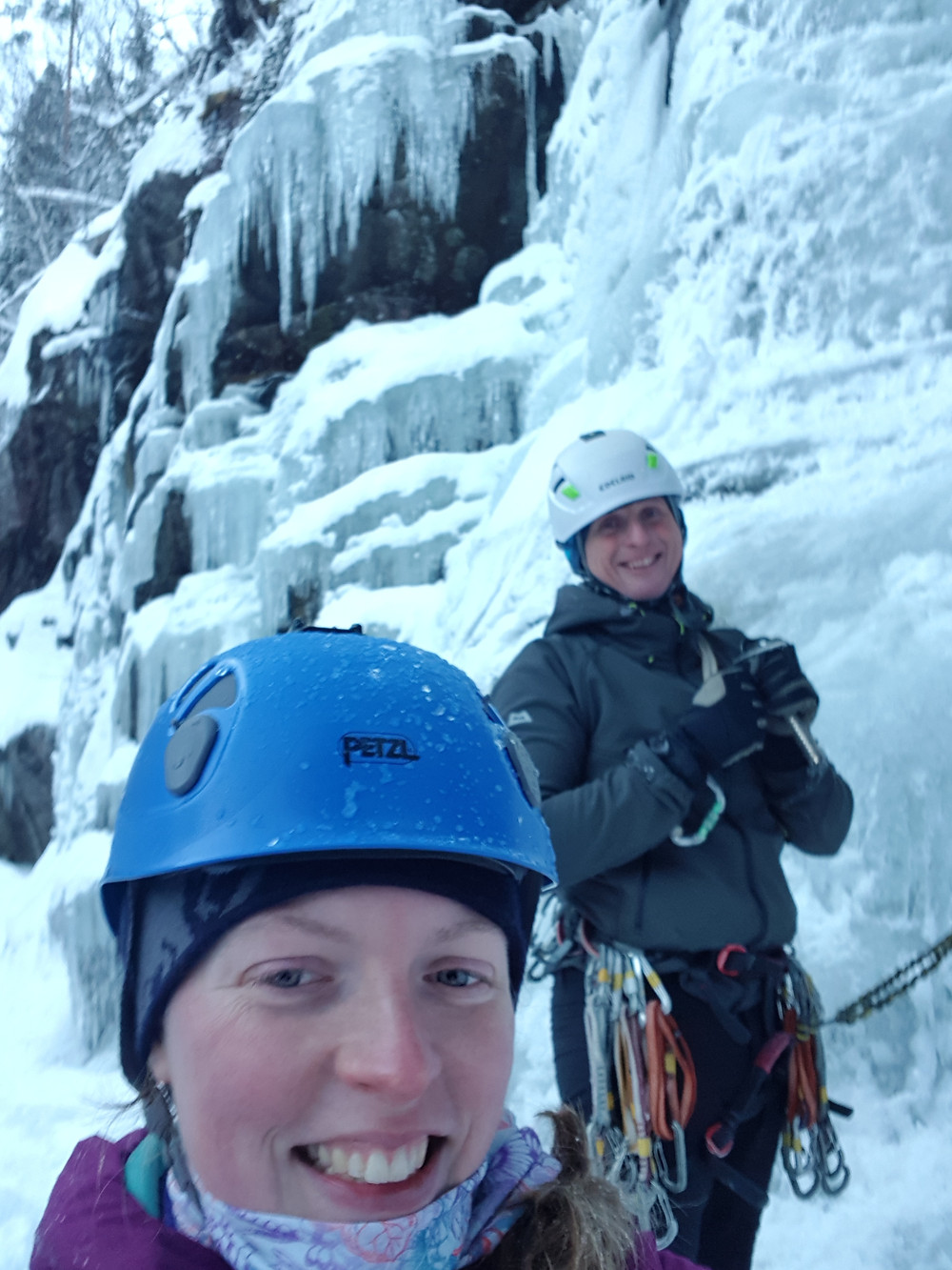 Picture of ice climbing in Rjukan