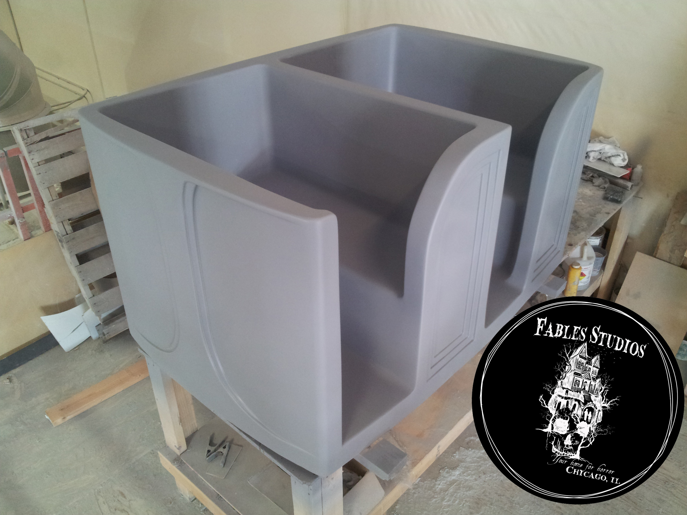 Fiberglass Dark Ride Cart