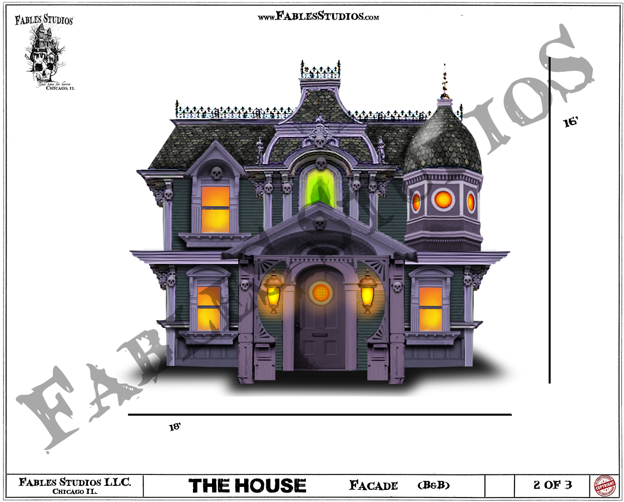 Haunted House Facade (Concept Art)