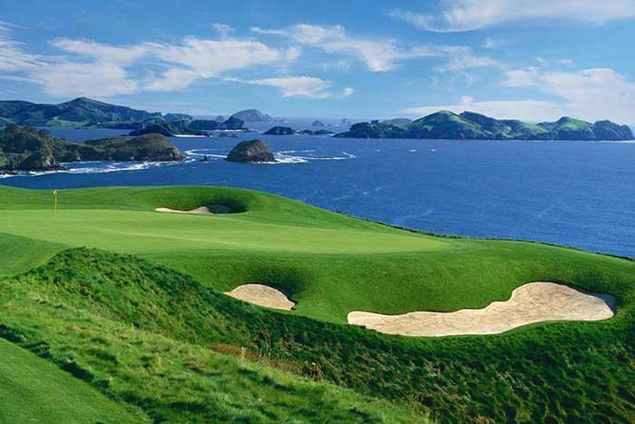 schönster Golfplatz der Welt, schönster Golfplatz Neuseelands, Golf Kauri Cliffs
