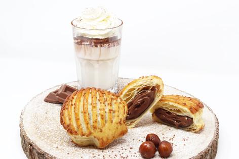 Perla with hazelnut cream