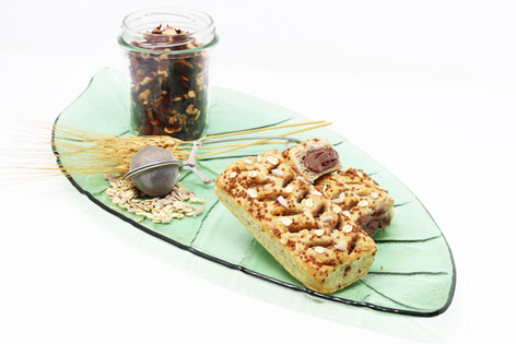 Vegan Puff Slice with hazelnut cream