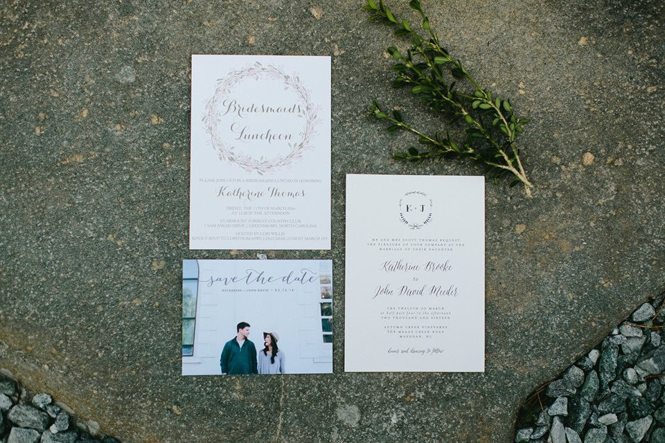 Invitation Suite Greensboro Wedding Planner