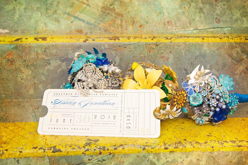 Ticket Style Wedding Invitations