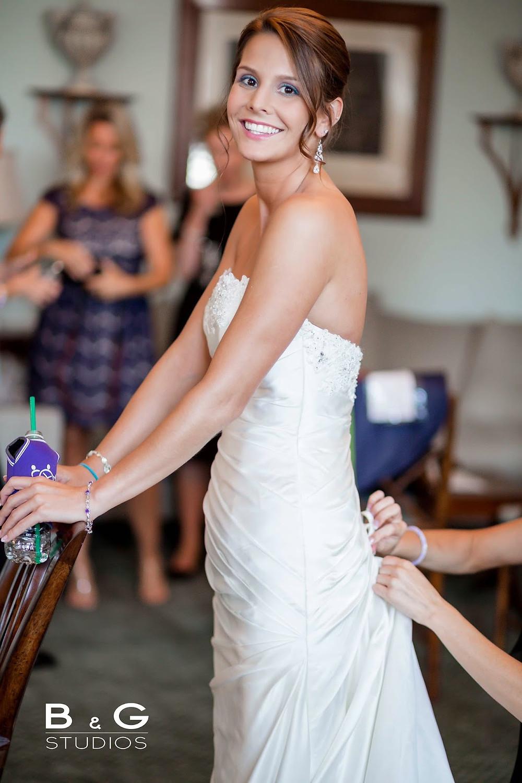 Getting Ready Wedding Shot