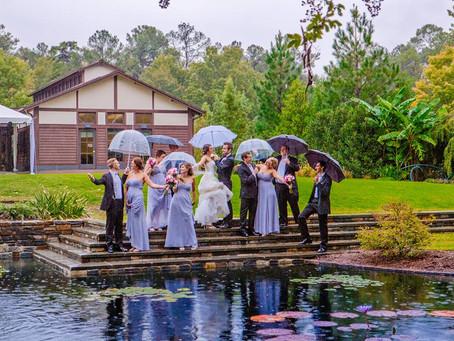 Rainy and Lavender Sarah P. Duke Gardens Wedding