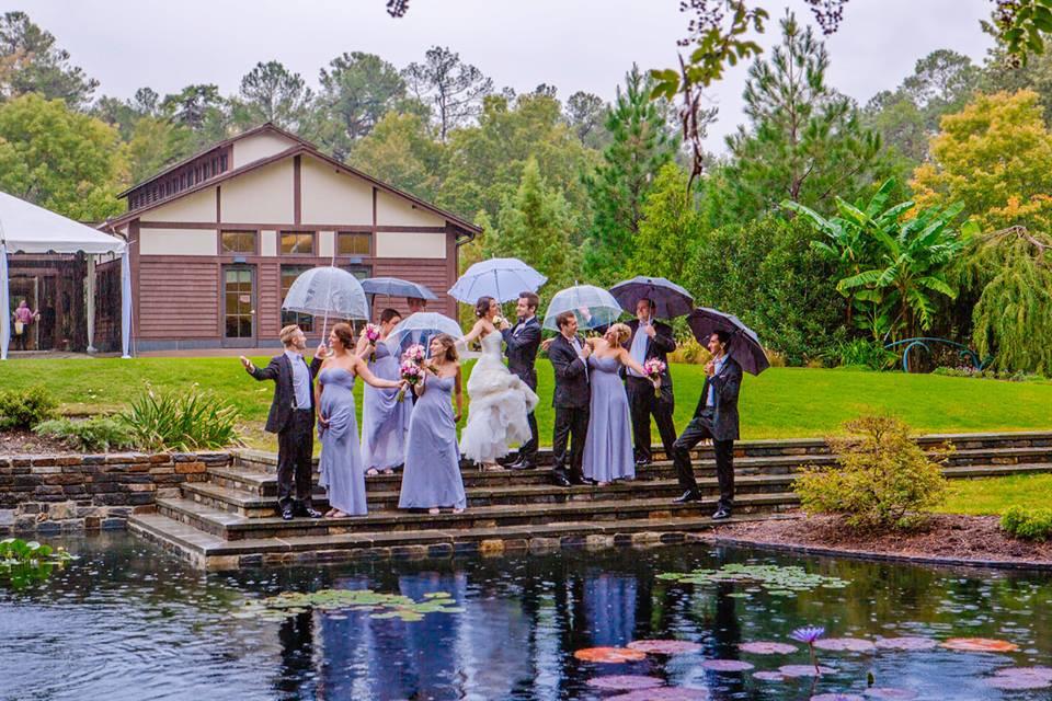 Rainy Wedding Day Photos