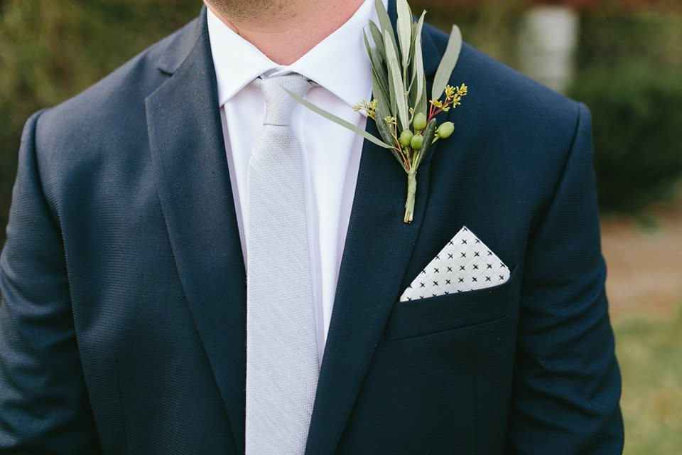 Greenery Boutonniere Greensboro Wedding Planner