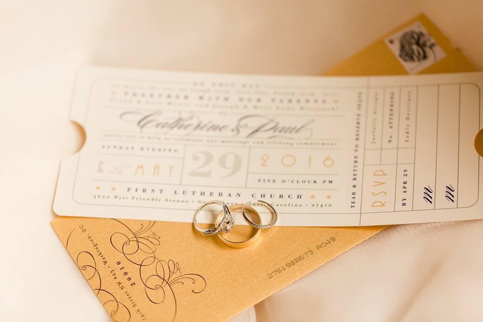 Theater Wedding Invitation Greensboro Wedding Planner