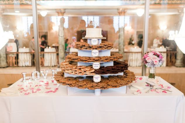 Cookie Tower instead of Wedding Cake Greensboro Wedding Planner