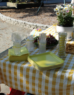 Yellow Checkered Table Cloth