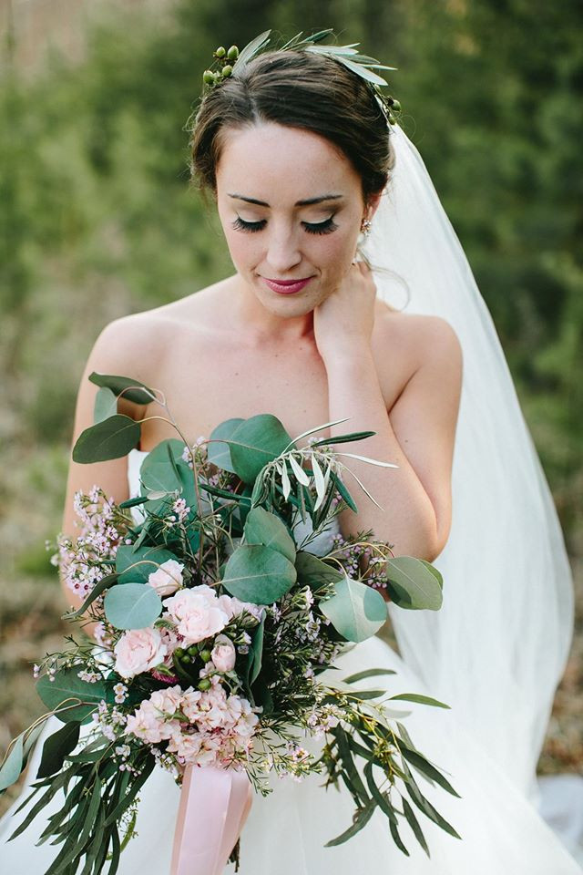 Flowing Greenery Bouquet Greensboro Wedding Planner