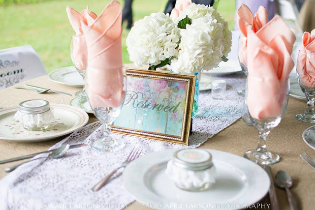 Pastel Wedding Table Reserved Sign