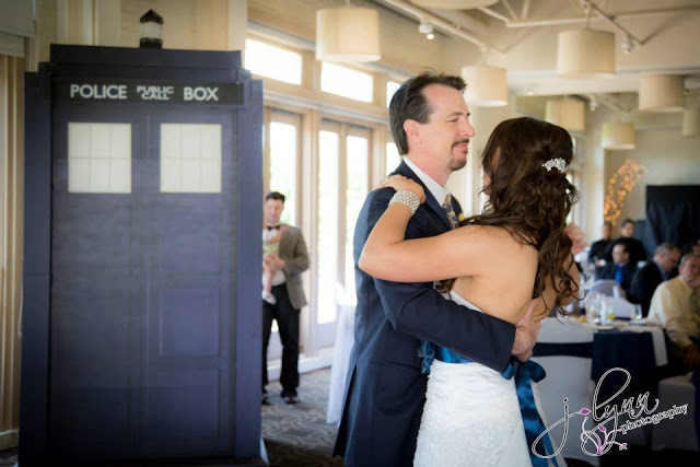 First Dance next to the Tardis