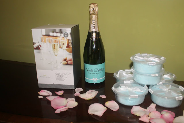 Tiffany Box Cotton Candy and Champagne Door Prizes