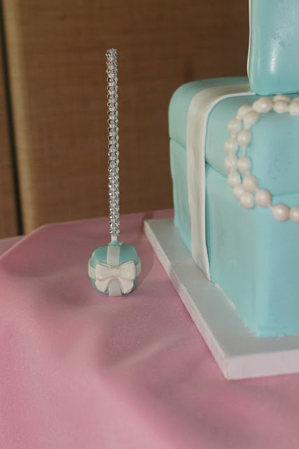 Tiffany Box Theme Cake Pops
