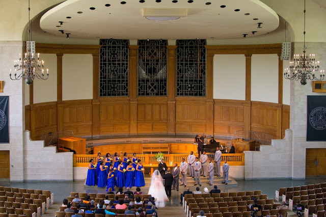 Ceremony at Wait's Chapel at Wake Forest
