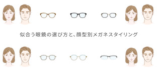 似合う眼鏡の選び方と、顔型別メガネスタイリング