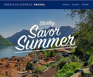 Amex Travel eNewsletter