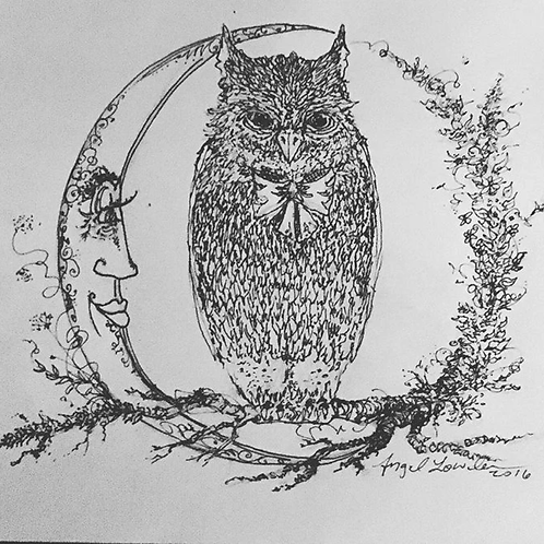"Night Owl, 8""x10"" Print"