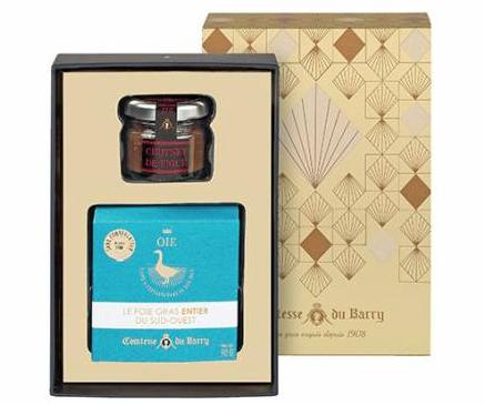 Whole Goose Foie Gras with Fig chutney Comtesse du Barry