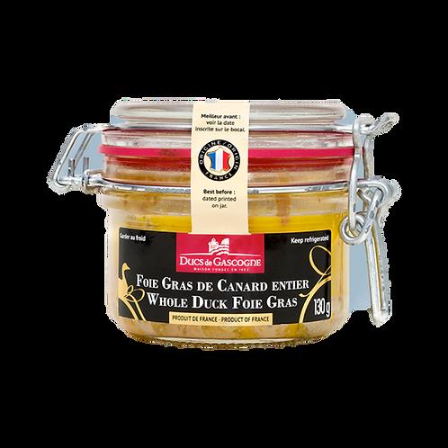 Foie Gras de Canard entier / Whole Duck Foie Gras 130g - DUCS DE GASCOGNE