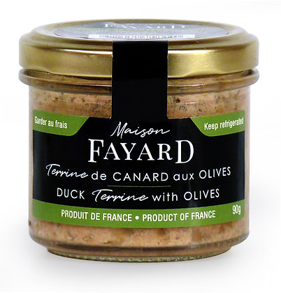 Duck terrine with olives Maison Fayard 90g
