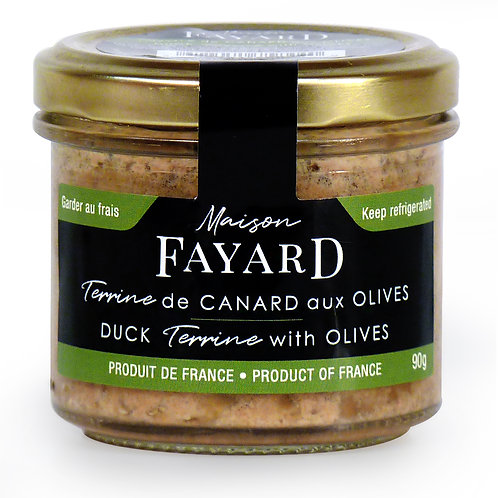 Duck Terrine with olives 90g - MAISON FAYARD