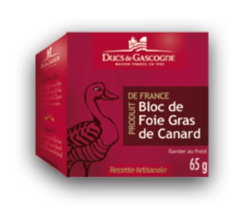 Bloc de Foie Gras de Canard 65g - DUCS DE GASCOGNE