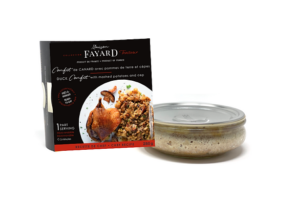 Duck confit and mashed potatoes with cep Maison Fayard 280g