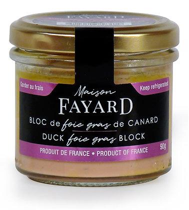 Duck foie gras block Maison Fayard 90g