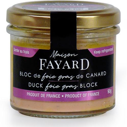 Duck Foie Gras Block 90g - MAISON FAYARD